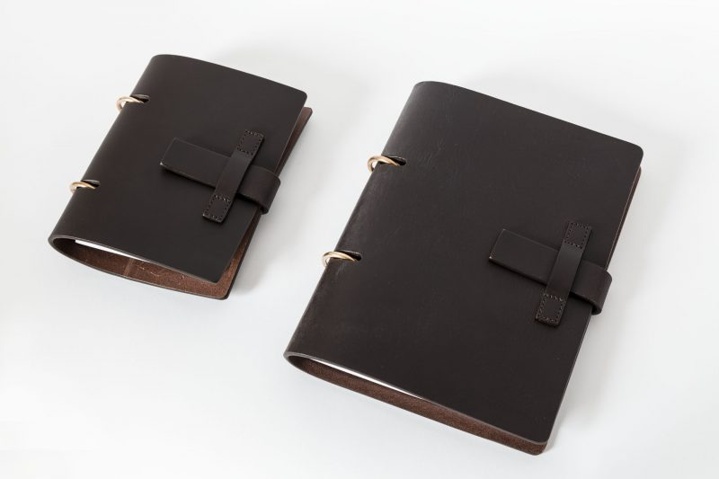 MT.05 A5 Notebook agenda leather Metropolis Algares Alba Gallizia