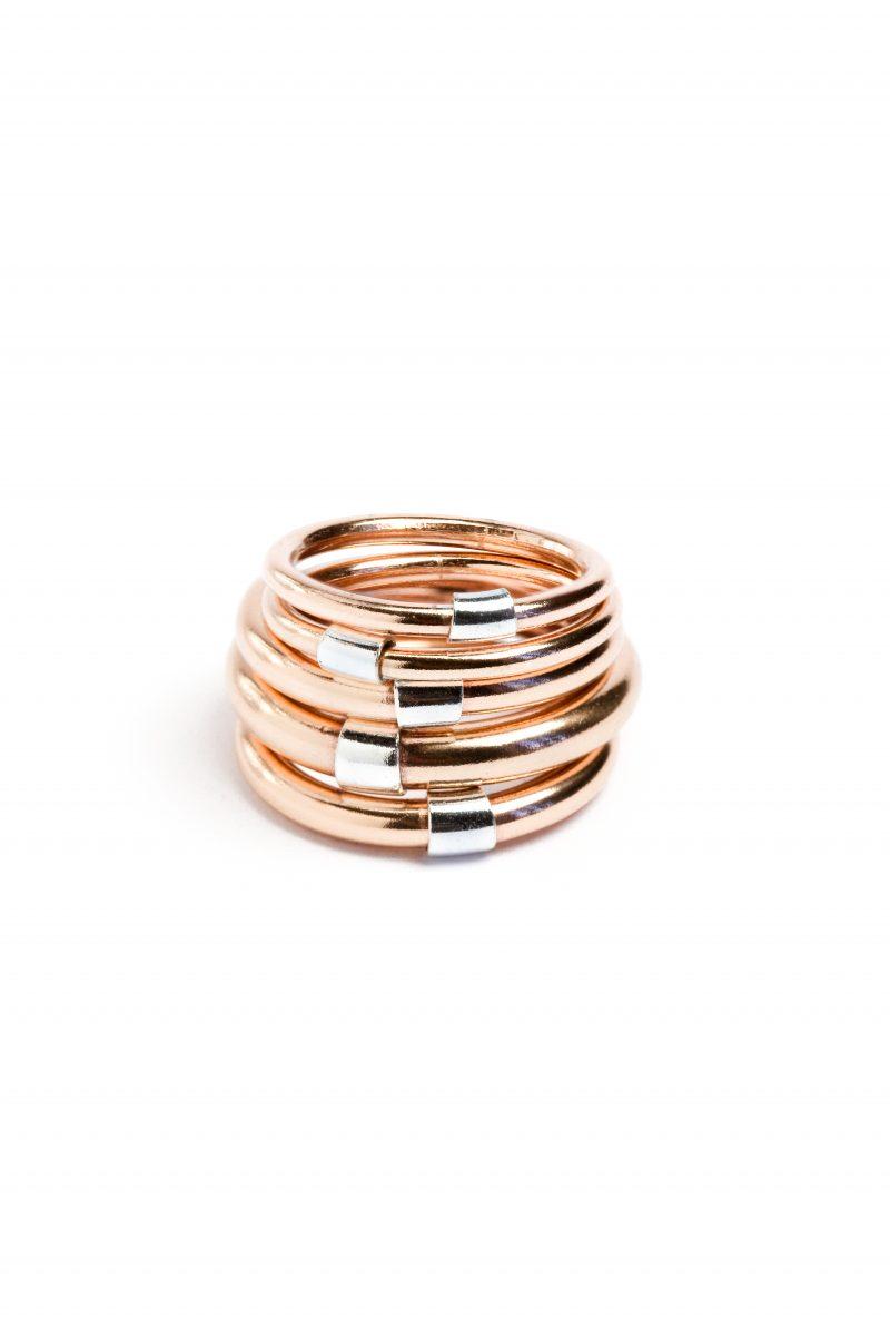 BR.17 Otello ring bronze silver anello bronzo argento Metropolis Algares Alba Gallizia 1