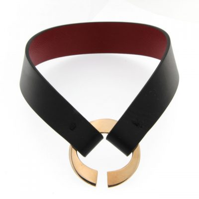 CU.07 Olga Chocker in pelle leather Metropolis Algares Alba Gallizia