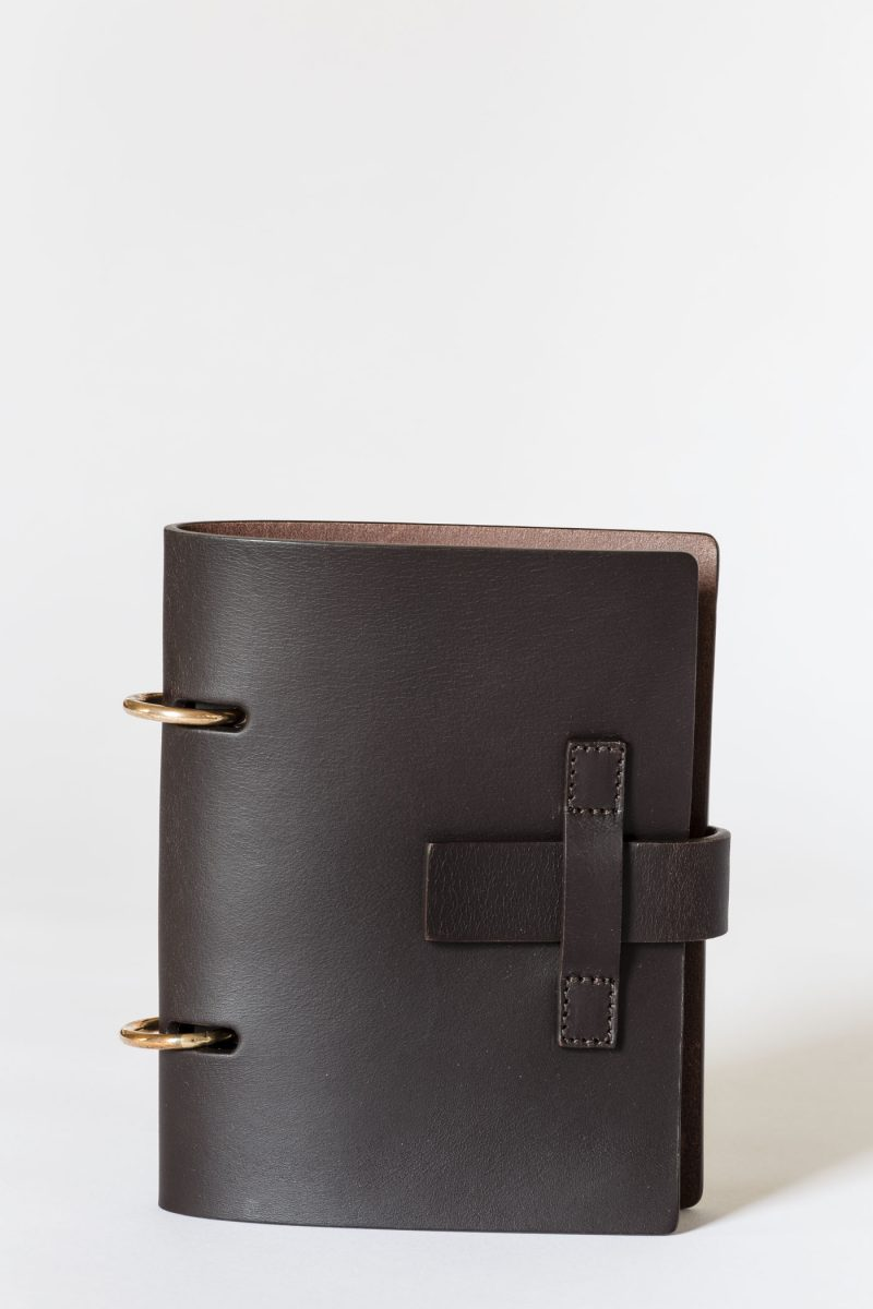 MT.06 A6 Notebook agenda leather Metropolis Algares Alba Gallizia